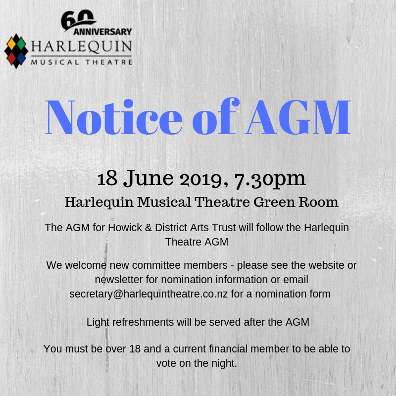 Harlequin AGM – 18 June 2019