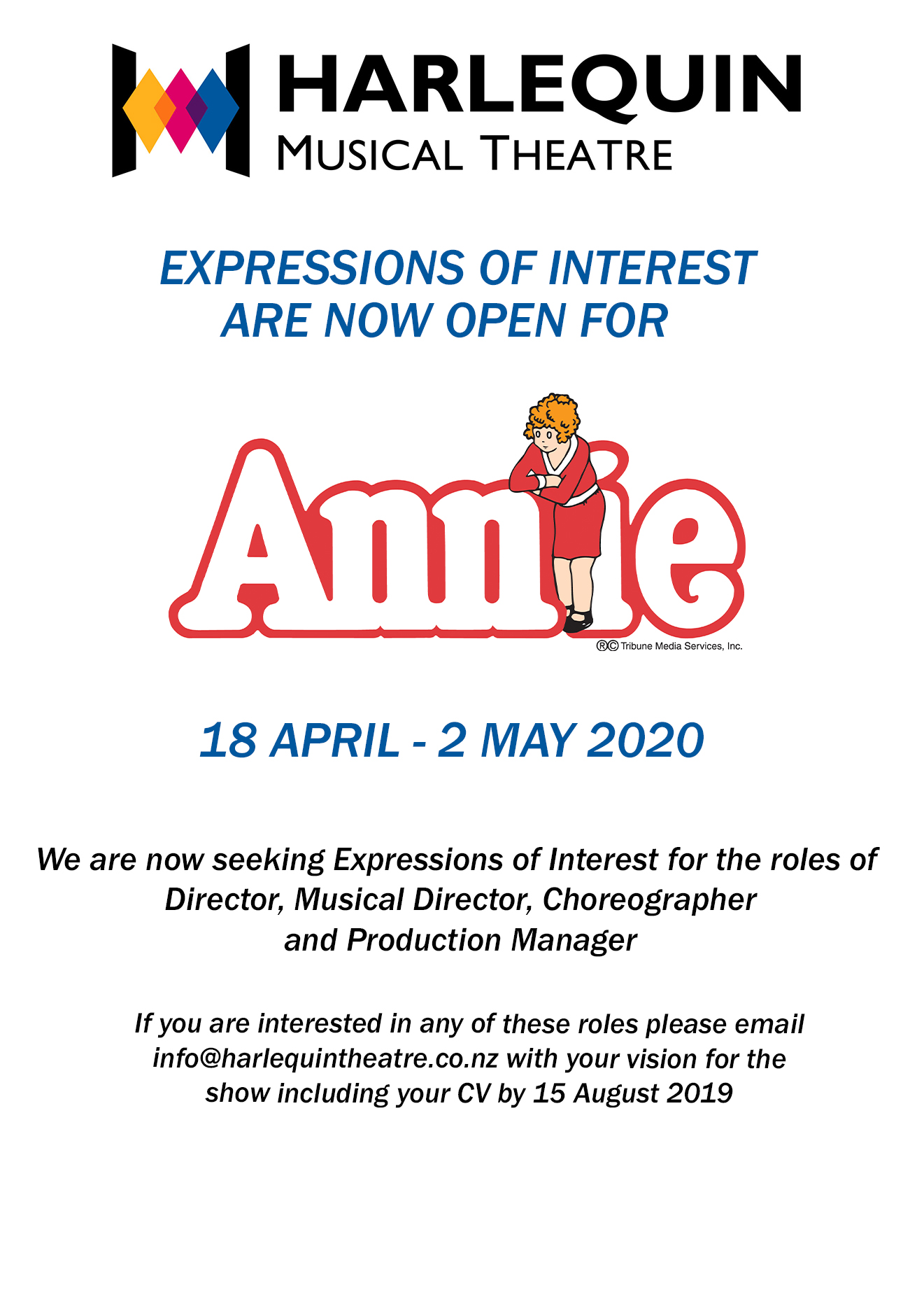 Calling for Expressions of Interest – Annie